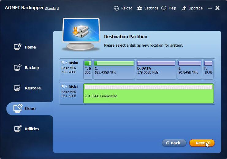 AOMEI Backupper Standard: Transfer Windows 10 To SSD Without Reinstalling